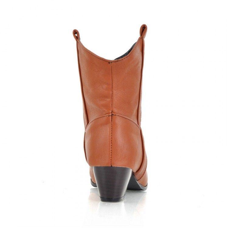 Stiefel PU Frauen Schuhe Stiefel 33 44 40 41 43 kleine Yards hohen Absatz 4,5 CM Dicke Ferse EUR Größe 32-45