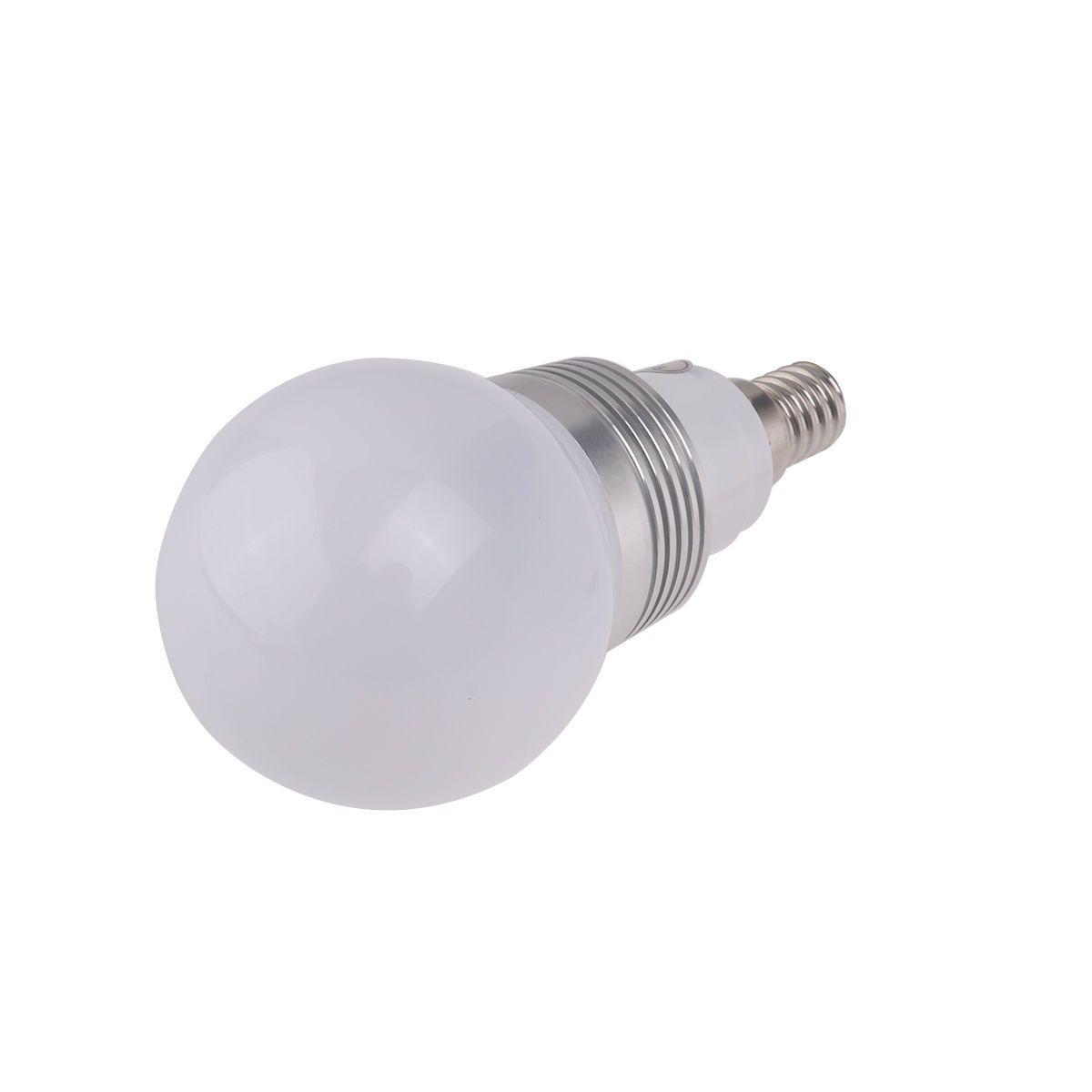E14 AC 230V 3W 16 Farben Ändern des RGB-LED-Lampenlichts + IR-Fernbedienung