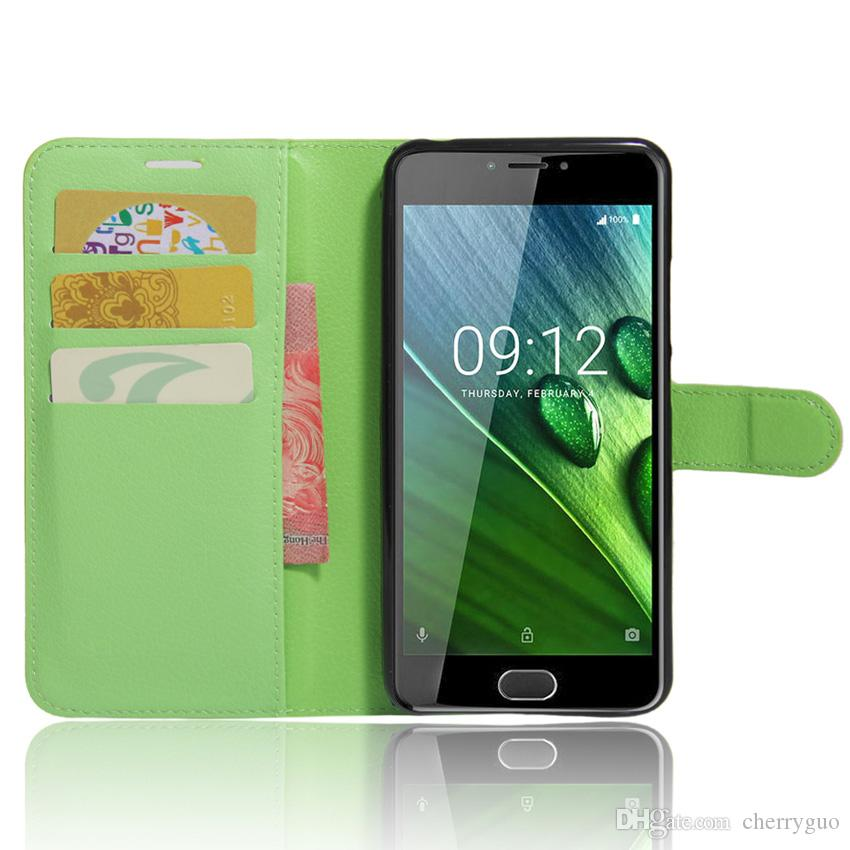 Case for Acer Liquid Z6, Litchi Pattern PU Leather Wallet Stand Case Cover with Card Slot