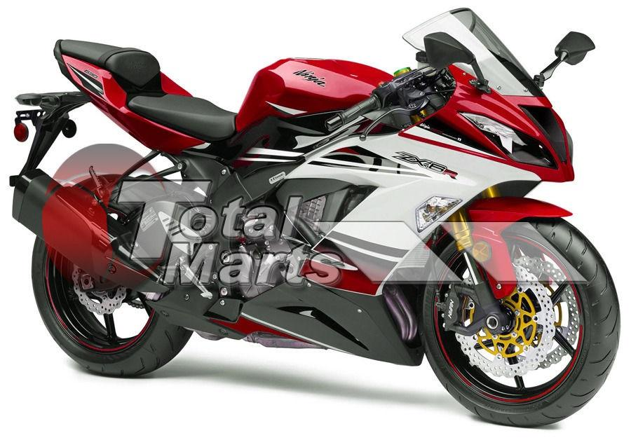 Fairing For Kawasaki Ninja 636 ZX6R ZX-6R 13 14 2013 2014 Injection ABS White Red F3627C