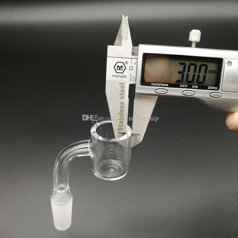 The latest 3mm Thick Flat Top Quartz Banger Nail With 25mm OD Female Male 10mm 14mm 18mm 45/90 Quartz Banger Domeless Nail