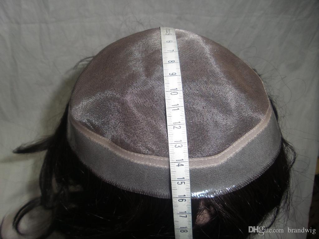 Peluca de la manera Kabell KIGS Hombres de pelo chino 100 del pelo humano de encaje transparente El fundador puede ser personalizado de acuerdo a su solicitud Freship