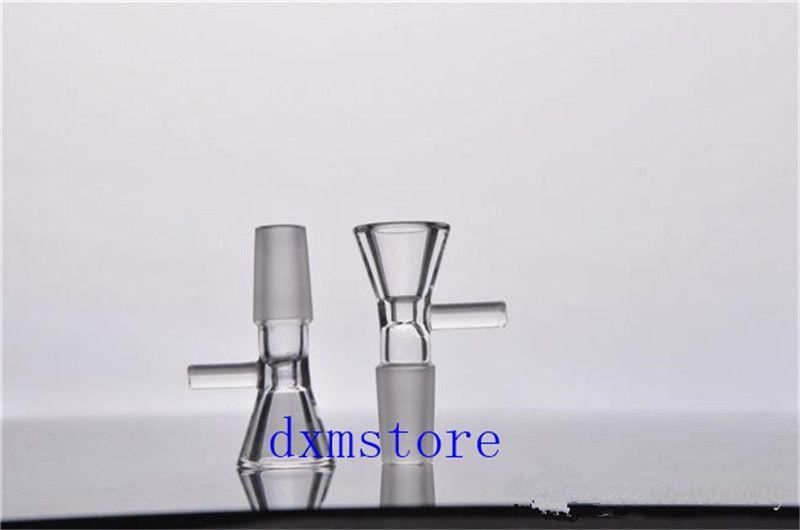 14mm joint Verre clair verre brûleur à mazout tube en verre tuyau de verre tuyau de pétrole clou pipe à fumer Verre Tuyau de pétrole épais verre clair