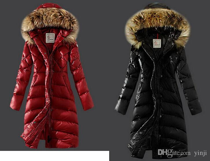 Großhandel Hooded Parkas 2018 Damen Lange Wintermantel Damen Ultra