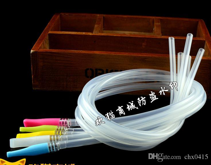 Set di tubi in silicone alimentare insipido e importato, compreso il tubo 50cm di colore + bocca, bong in vetro, tubo dell'acqua in vetro, tubo fumare