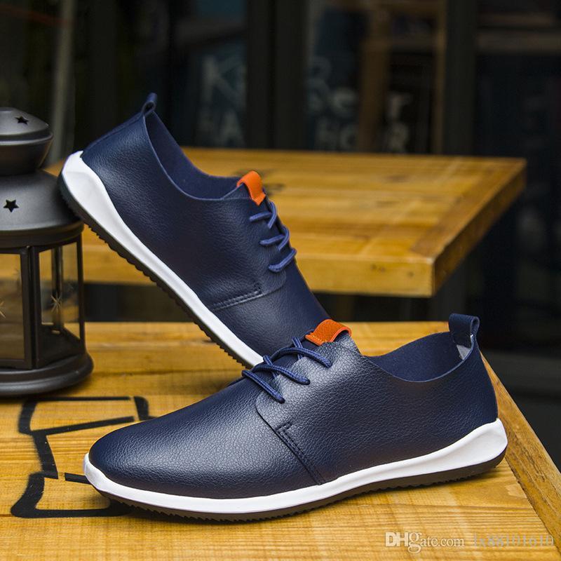 Scarpe da uomo Scarpe casual da uomo in microfibra traspirante Scarpe da uomo d'affari Scarpe di colore puro Scarpe comode l'estate
