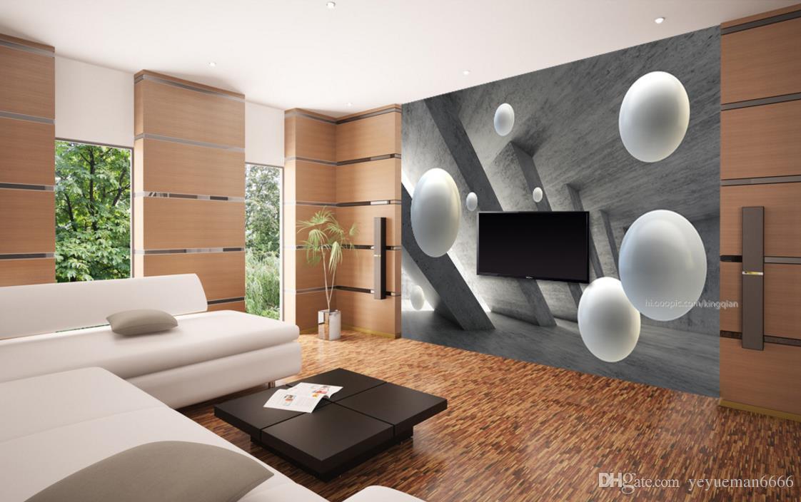 3D стереоскопический шар 3d обои фрески Papel De Parede гостиная детская комната ТВ фон стены