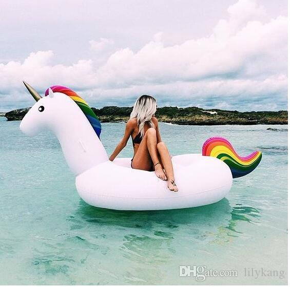 275cm Inflatable swim pool folating bouncers inflatable ride giant inflatable mattress animal water fun toy pool giant swan floating raft