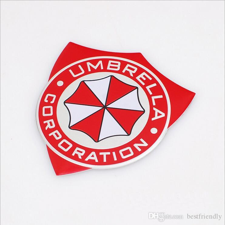 Resident Evil Umbrella Metal 3d Car Body Decorate Badge Emblem