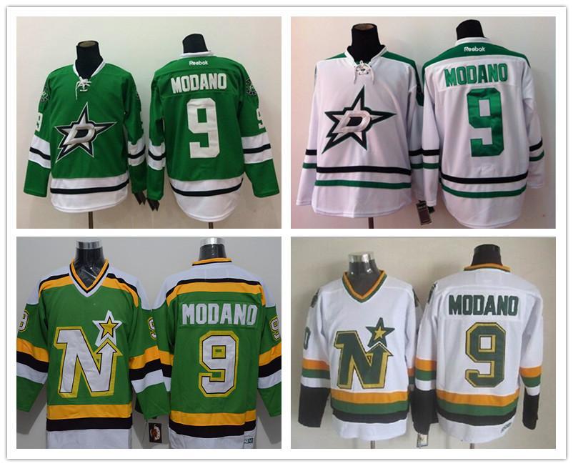 273d83fd ... Best MenS Hockey Jerseys Dallas Stars Jerseys Minnesota North Star 9 Mike  Modano Vintage Throwback HomeAway ...
