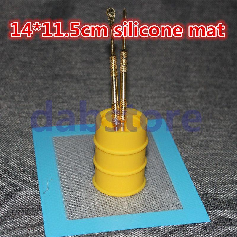 Tapis de cire de silicone antiadhésif en gros OEM 14 * 11.5 cm 5,5 * 4,5 pouces BHO Wax Dab Pad Cire Mat Free DHL