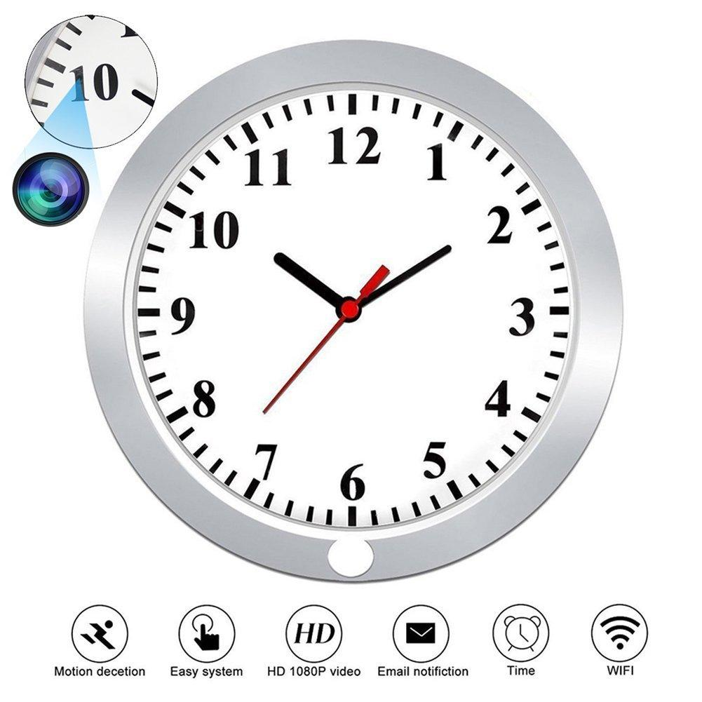 Hidden cameras 1080p wifi spy camera wall clock security with see larger image amipublicfo Images