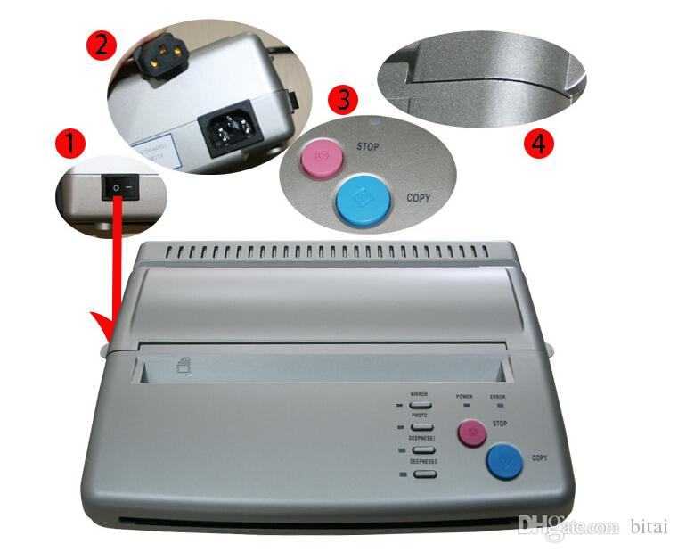 Wholesale-lowest price A4 Transfer Paper black Tattoo copier thermal stencil copy Transfer Machine