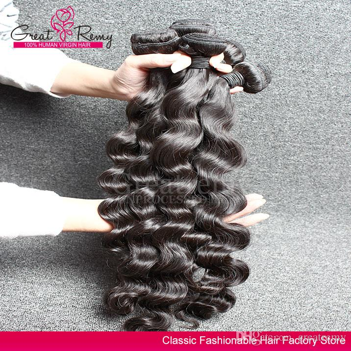Gevşek bukle örgü demetleri derin ucuz bakire saç Brezilyalı saç örgüleri gevşek Brezilyalı Greatremy® perakende insan saç uzatma