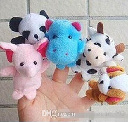 Im Lager Unisex Toy Fingerpuppen Finger Tiere Spielzeug nette Karikatur-Spielzeug der Kinder Kuscheltiere Spielzeug