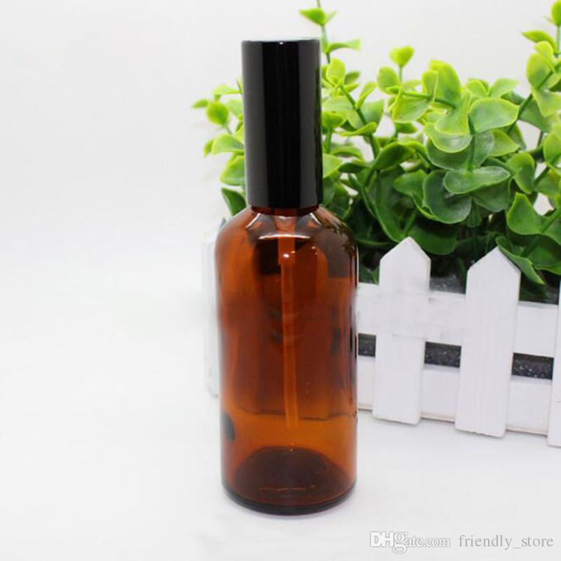 Nuevo diseño de botellas de spray de aceite esencial de vidrio de 100 ml al por mayor con atomizador o bomba de loción para perfume de aceite
