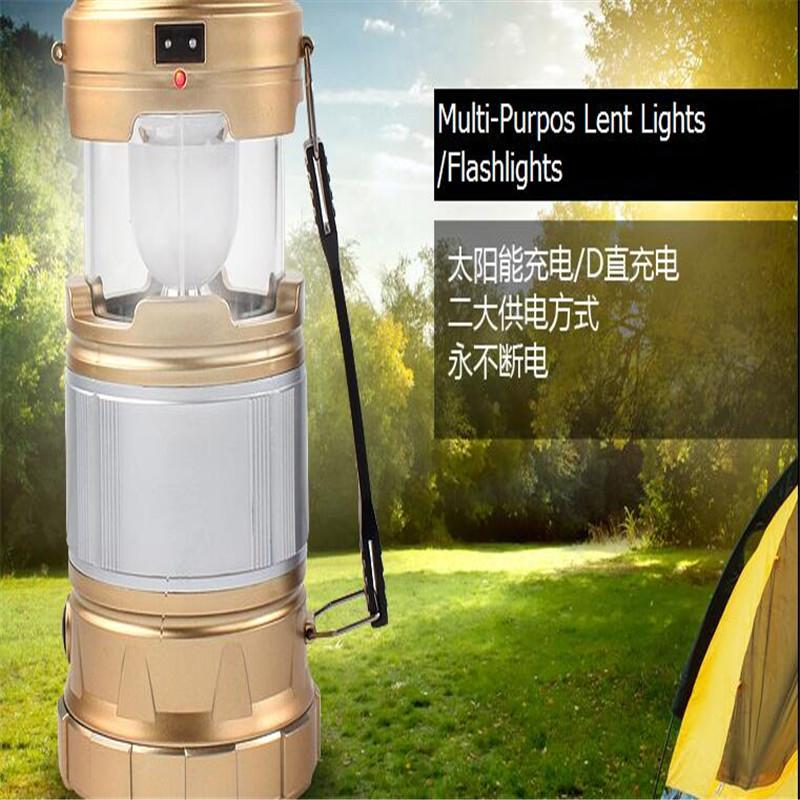 led solar lights super bright outdoor camping tent camping lamp emergency light lamp portable lamp pull battery powered lanterns round paper