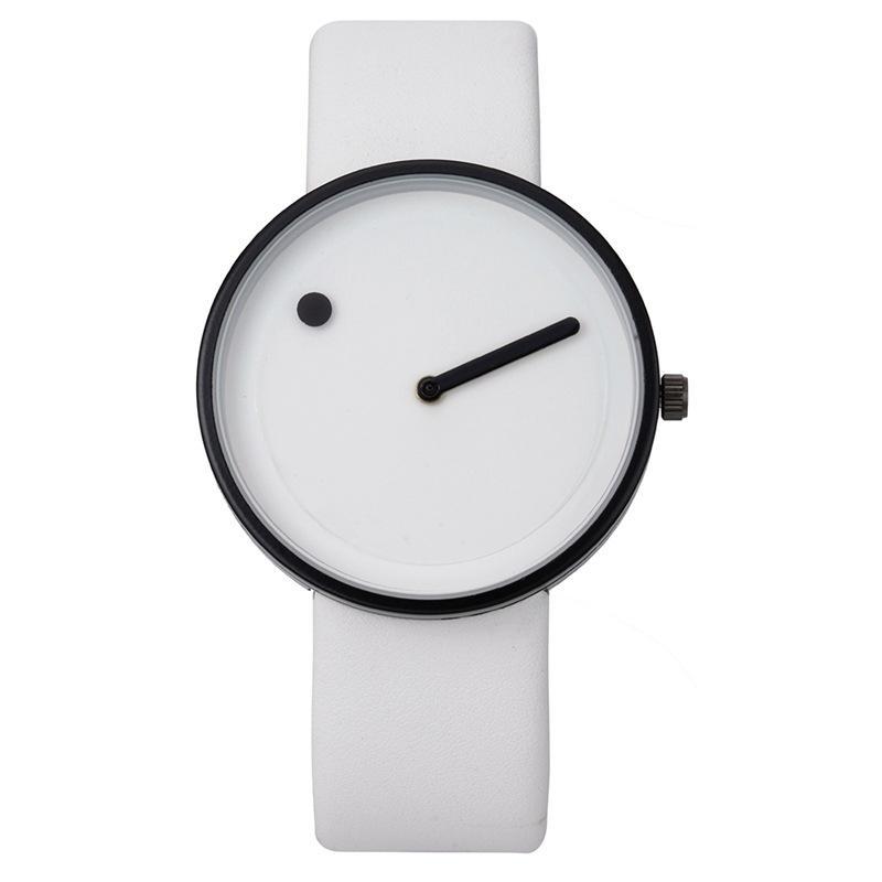Promotion 2018 Minimalist für Armbanduhren Schwarz Weiß Design Uhr Männer Hohe Qualität Dot Und Linie Quarz Mode Mädchen Uhren