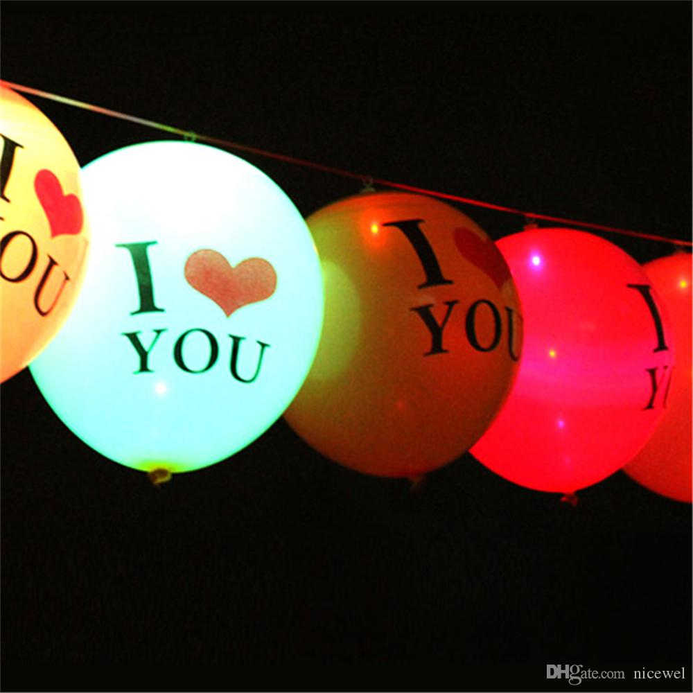 New Led Balloons Illuminated LED Balloon Romantic Lanterns Happy Birthday Lovers Decoration Globos Party Baloons Light Up Love Decor
