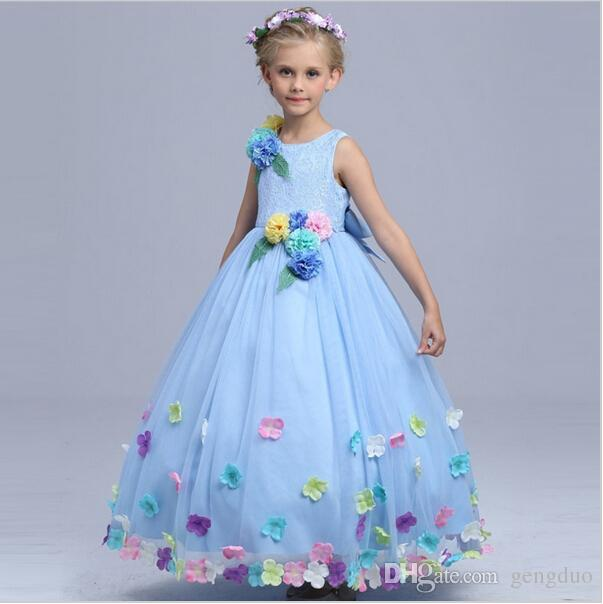 Captivating 2019 Baby Girl High Quality Cinderella Flower Fairy Costume Girls Party  Maxi Dress Kids Princess Wedding Dresses Children Performance Dress Q64  From Gengduo ...