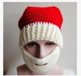 Navidad bufandas sombreros adultos Warm Full Beard Beanie bigote máscara cara Warmer Knit esquí lana gorro de invierno para mujeres niños Winter Hat