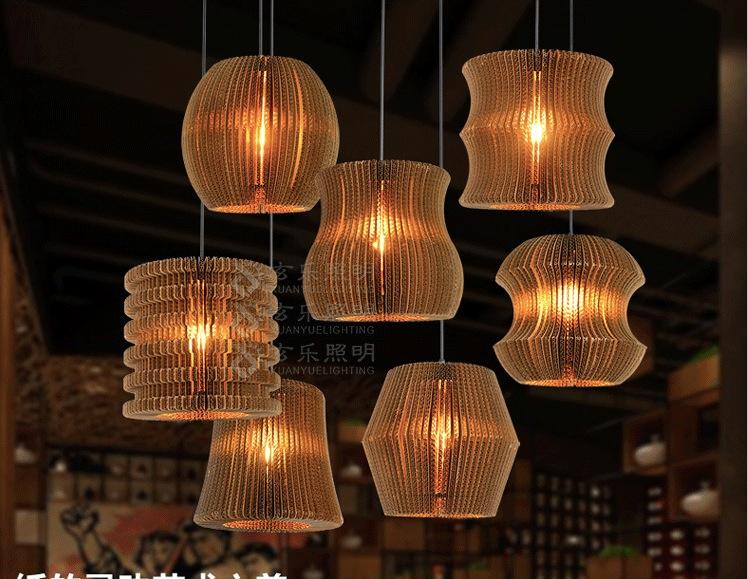 Loft Style Nordic Pendant Creative Pastoral Clothing Store Coffee Hall Paper 7 sizes for selection Pendant Vintage Lighting