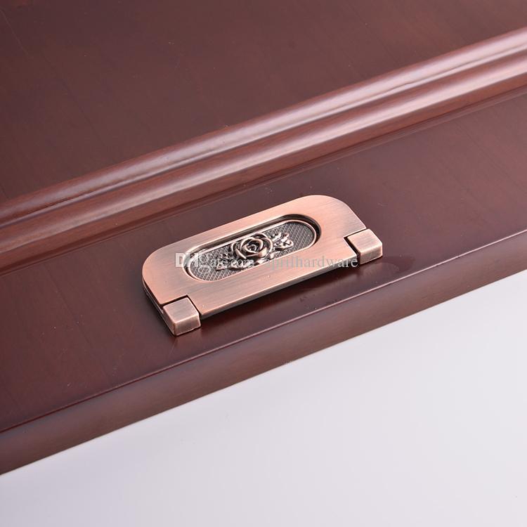 China Restore Ancient Fancy Modern Bedroom Furniture Cupboard Copper Bronze Door Kitchen Wardrobe Cabinet Recessed Drawer Hidden Pull Handle