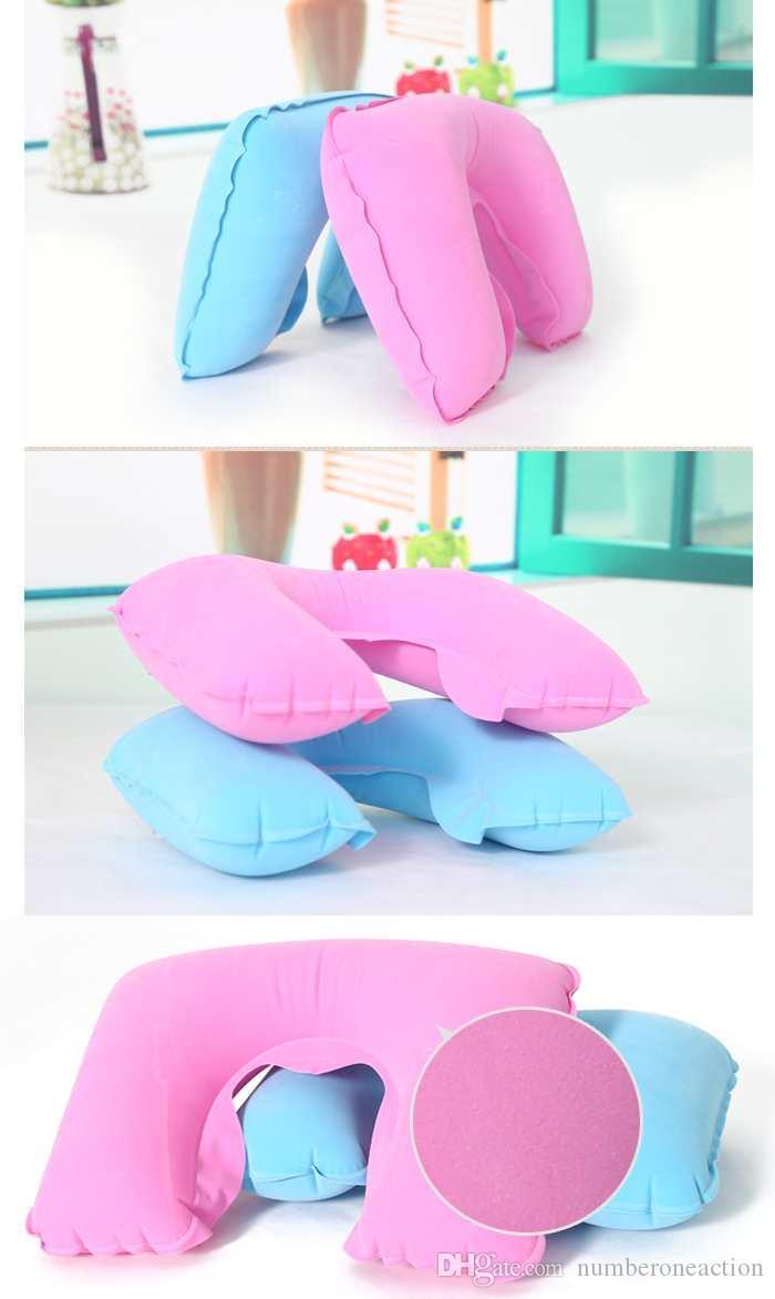 U-Form-Spielraum-Kissen für Flugzeug Aufblasbares Nackenkissen Reisezubehör bequeme Kissen für Schlaf-Home Textile