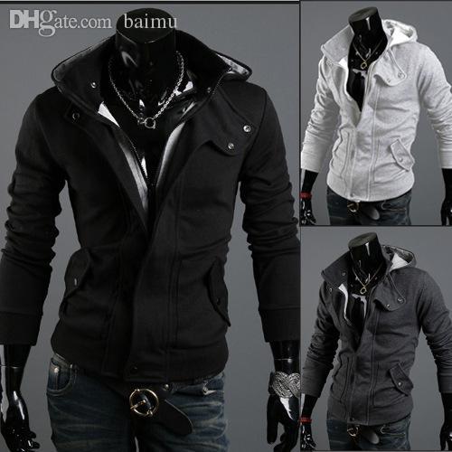 d8cc9280fc4e3 Wholesale-Plus Size Sports Hooded Jacket Casual Winter Jackets Hoody  Sportswear Assassins Creed Men s Clothing Hoodies Sweatshirts XXXL Hoodie  Cotton Hoodie ...