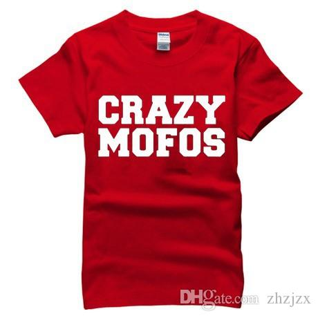 Crazy Mofos Print Man T Shirts Fashion 2016 Casual Harajuku Cotton Sport Men Shirt Gym Brand Clothing Tees Camisa AMD201