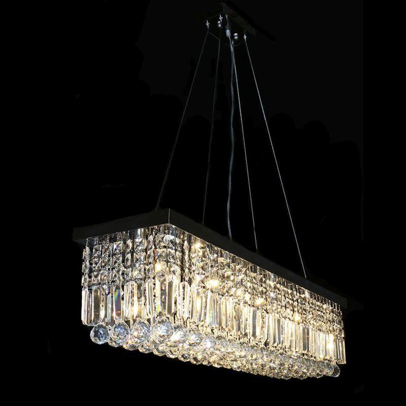 Hot Sales Modern Oval Crystal Chandelier Chrome Suspenstion ...