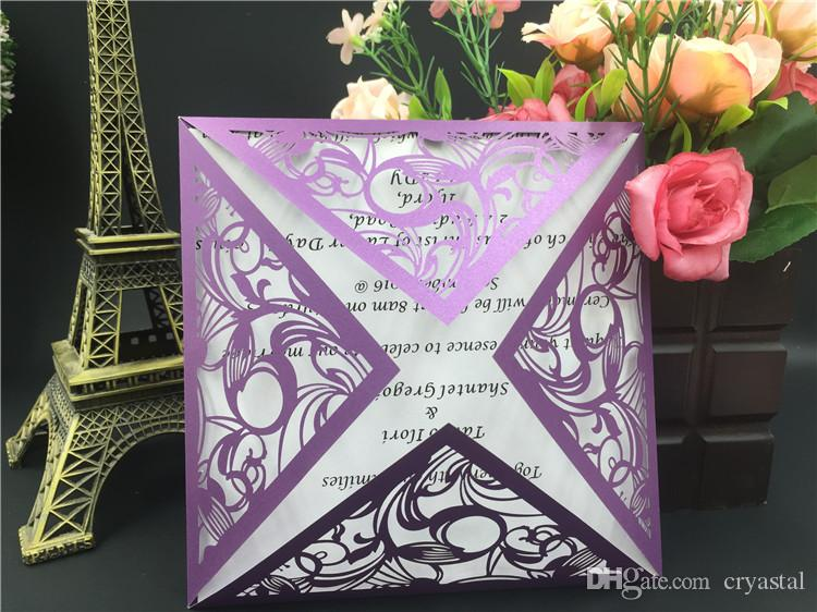 2018 Luxury Purple Party Invitations Free Printing Party Invitation