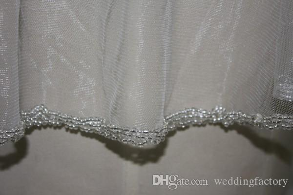 Utsökt Beaded Tulle Wraps Real Pictures Beading Custom Colors Bridal Wraps för Strapless Wedding Dress Charming Wrap