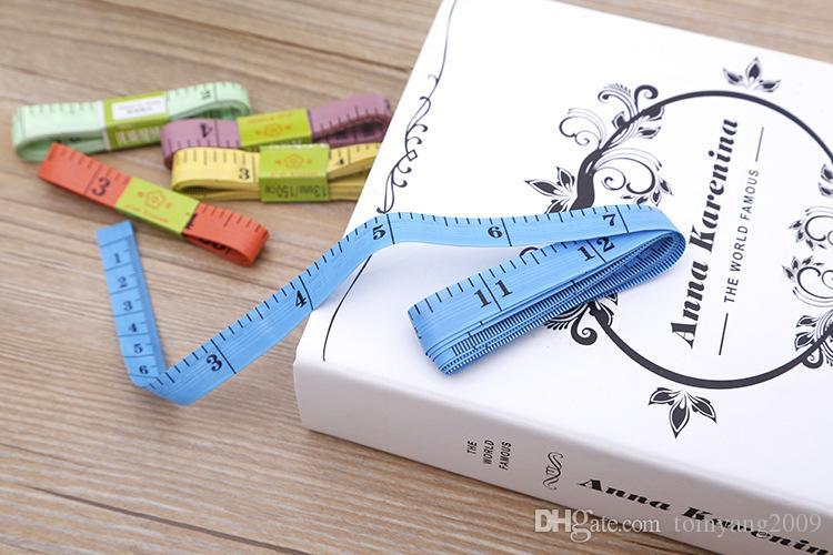 Multi Color Measure Righello 3 MM Body Tape Lunghezza Misura 150 CM 60 Pollici Soft Righello Da Cucire Su Misura Strumento Righello Bambini Regola Del Panno