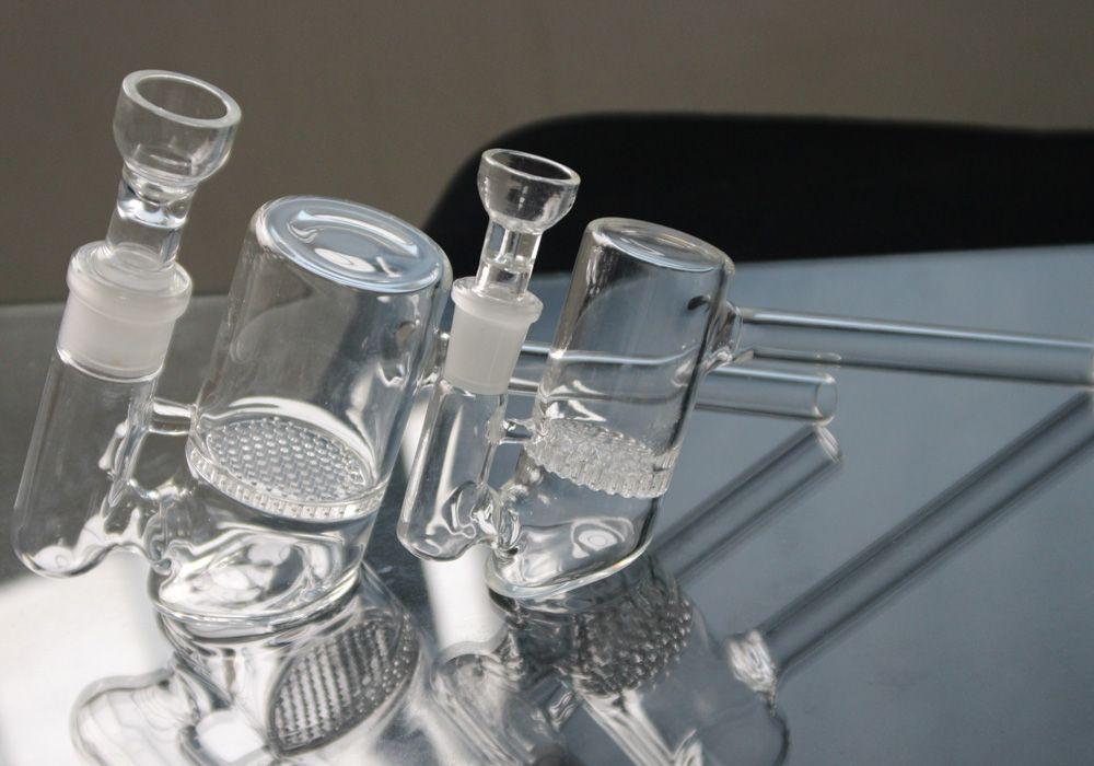 14mm 19mm 2 Modelle Glas Bubbler Comb Perc Glass Hammer Bohrinseln Glas Bongs Wasserpfeifen auf Lager