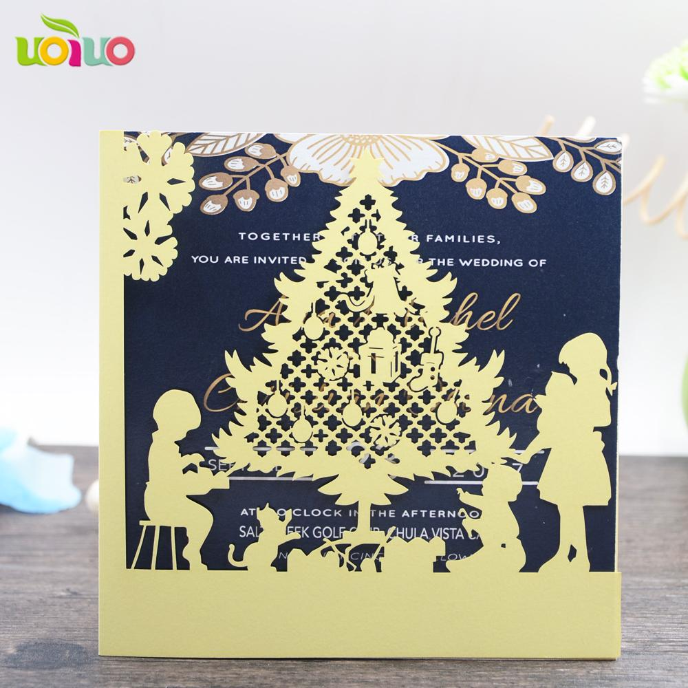 Nice Laser Cut 3d Christmas Greeting Cards Gold Designs Festival