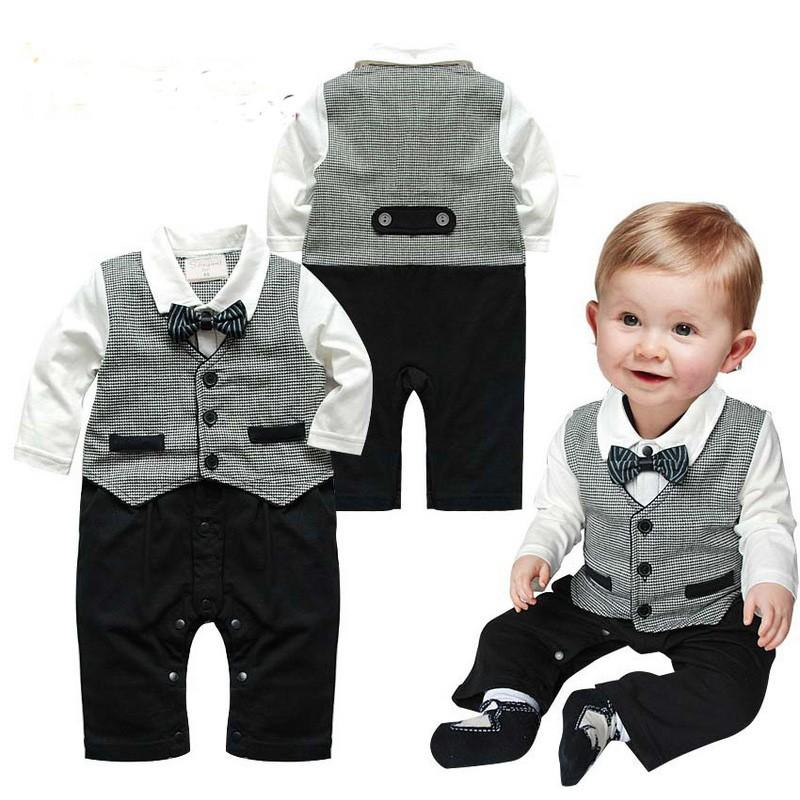 2018 Rompers Baby Boy Clothes New Year Christmas New Baby Boys Set