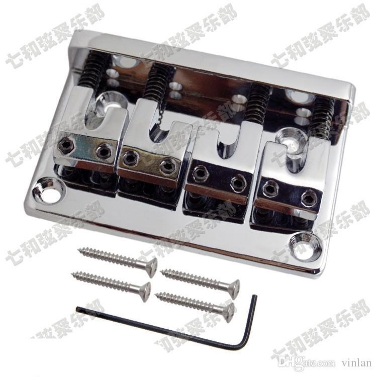 Vendite calde 4 corde chitarra basso Ponte siliver colore parti di chitarra Accessori strumenti musicali
