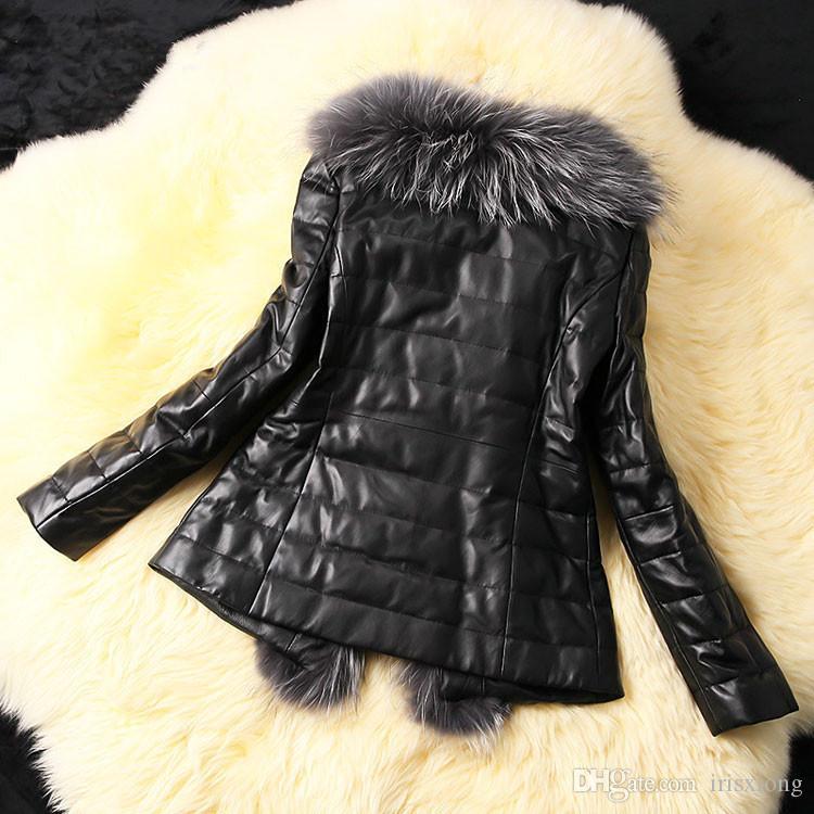 Nuova sezione pelliccia di volpe breve ispessimento era giacca cuciture sottili Pelliccia finta cappotto invernale giacca di pelle a maniche lunghe Plus Size Giacca donna M-4XL