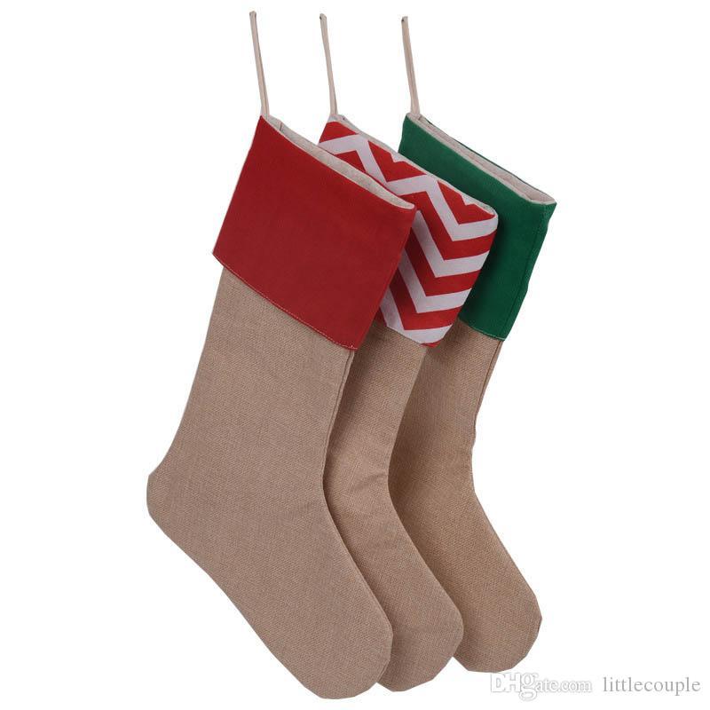 Großhandel 2016 Neue Weihnachtsgeschenke Socken Sack Taschen 7 Arten ...