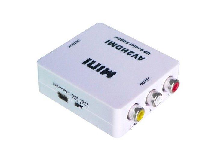 HDMI2AV AV2HDMI 1080P HD Video Adaptador mini RCA TO HDMI convertidor CVBS + L / R HDMI2RCA para Xbox 360 PS360 Con embalaje al por menor