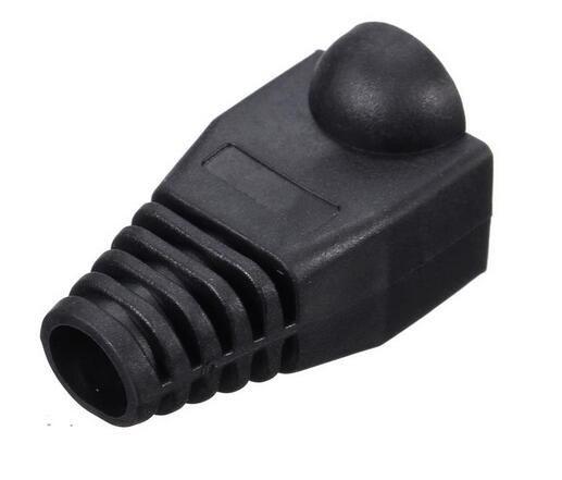 Новые приходят 1000 шт. Черный загрузки Cap Plug Head для RJ45 Cat5/6 кабель разъем модульной сети