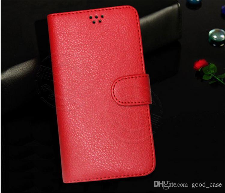 iphone 7 FALL Universal brieftasche Flip PU Leder Lichee Muster Fällen Kreditkarte abdeckung stand halter Für 3,5-5,7 Zoll Handy HTC Sony note