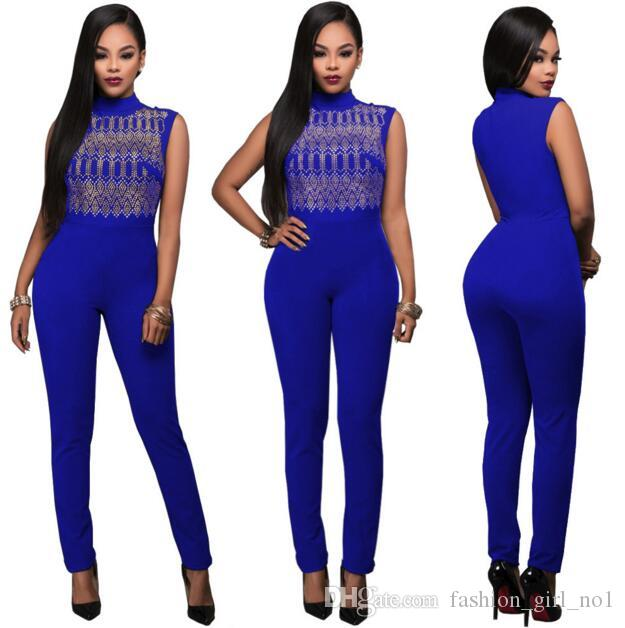 c8536bee722 2019 Bodysuit Women New Tight Blue Straps Jumpsuit Overalls For Women Pure  Sexy Rompers Fashion Casual Clothing From Fashion girl no1