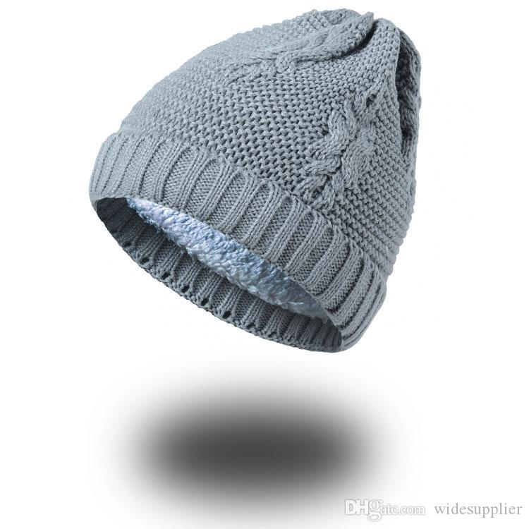 Autumn and winter leaves wool cap plus velvet blanket creative creative acrylic knitted hat wholesale Beanies