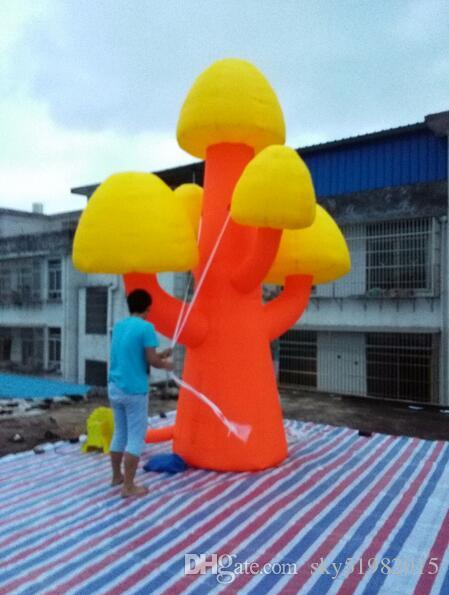 4m giant inflatable mushroom tree with Lights advertising