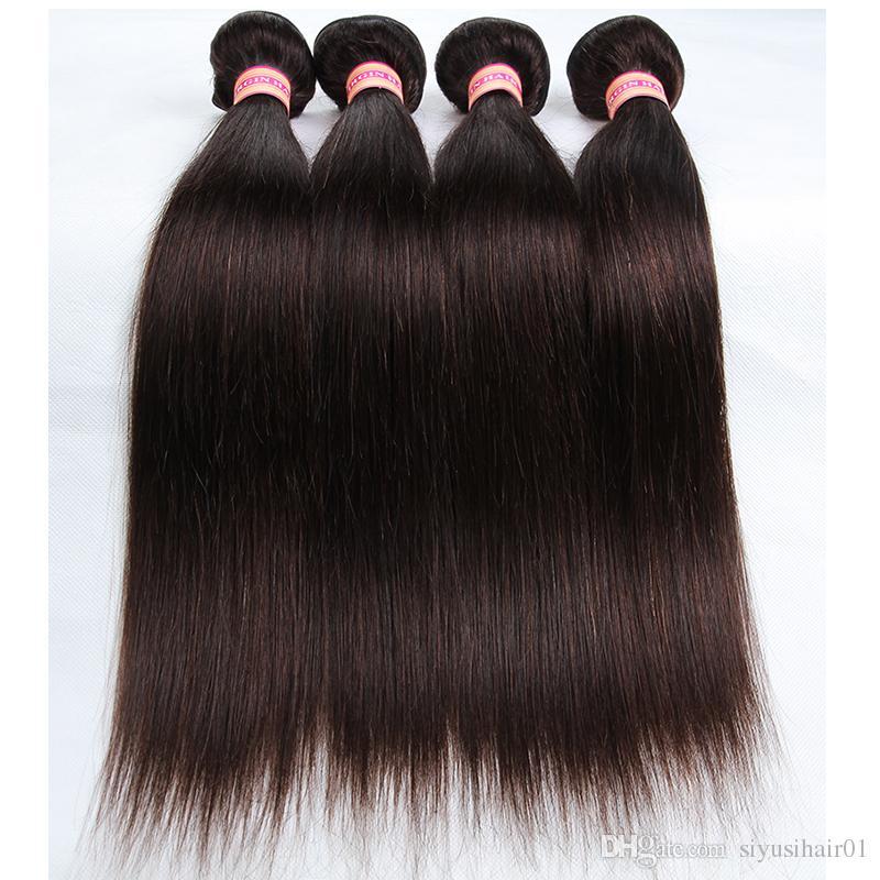Brazylijski dziewiczy ciało fala wiązki włosów kolor # 2 brazylijskie proste ludzkie włosy splot przedłużenia włosów