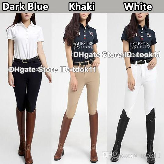 7ff949a54 2019 Wholesale Women Horse Riding Chaps Calca Montaria Feminina  Professional English Chaps Style Pants Girls Jodhpurs Riding Breeches Bulk  Order From Took11 ...