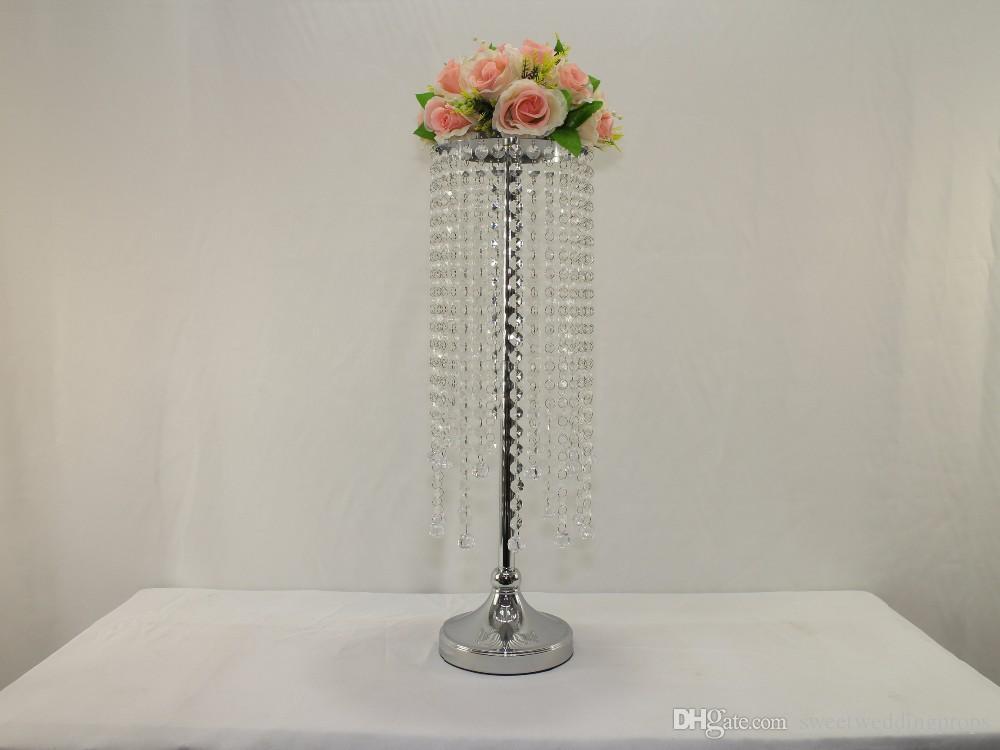 heißer Verkauf hangging Kristallleuchter Hochzeits-Blumenstand Mittelstück-Vase
