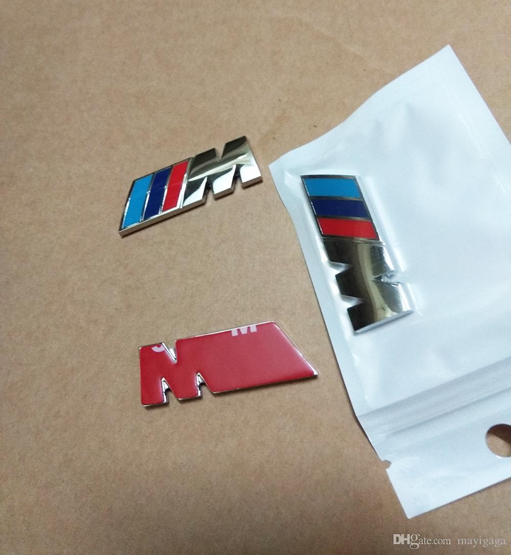 4.5CM M Power Racing Side Fender Badge Decal Sticker M Logo Emblem for BMW X3 X5 X6 F10 F30 E60 E90 E36